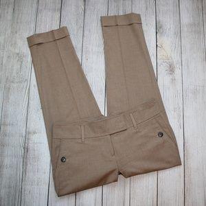 ANN TAYLOR LOFT Size 0 Tan Dress Pants Ankle